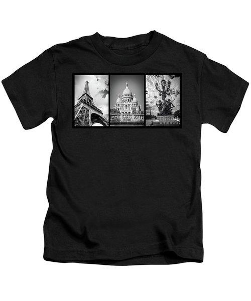 Paris Triptych Kids T-Shirt
