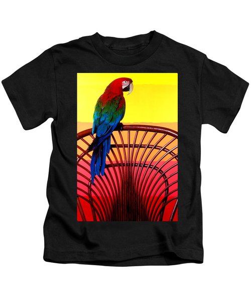 Parrot Sitting On Chair Kids T-Shirt