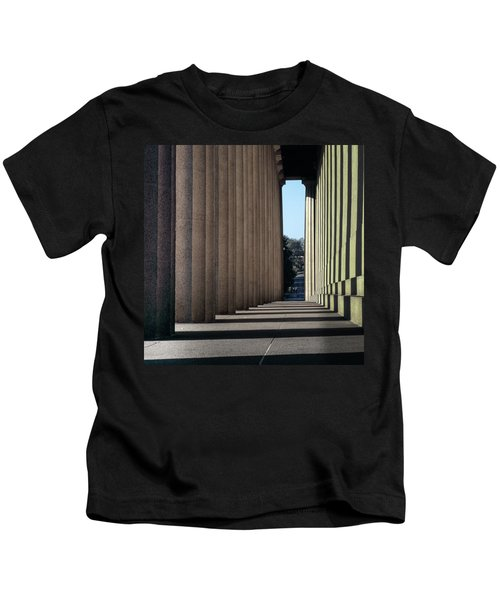 Parthenon Shadow Tunnel Kids T-Shirt