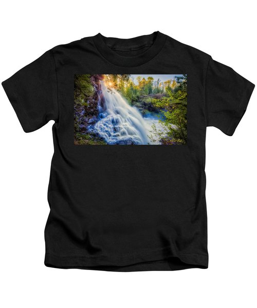 Partridge Falls In Late Afternoon Kids T-Shirt