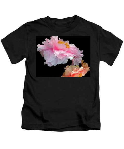 Pas De Deux Glowing Peonies Kids T-Shirt