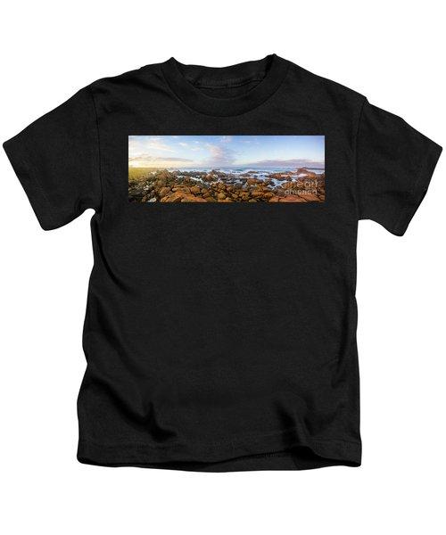 Pastel Tone Seaside Sunrise Kids T-Shirt