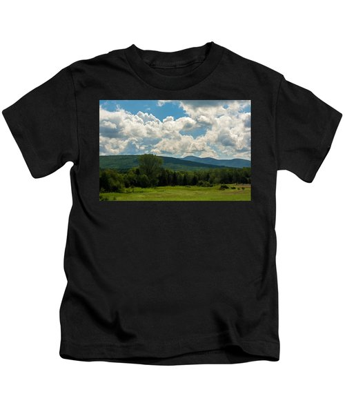 Pastoral Landscape With Mountains Kids T-Shirt
