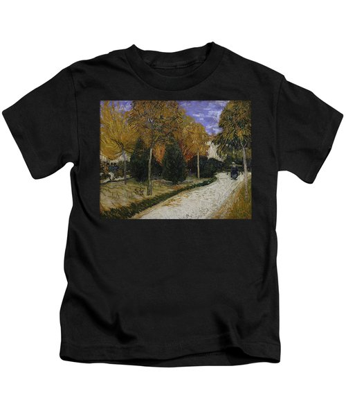 Path In The Park At Arles Kids T-Shirt