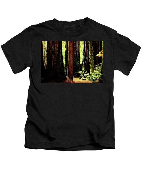 Path Through The Forest Edge . 7d5432 Kids T-Shirt