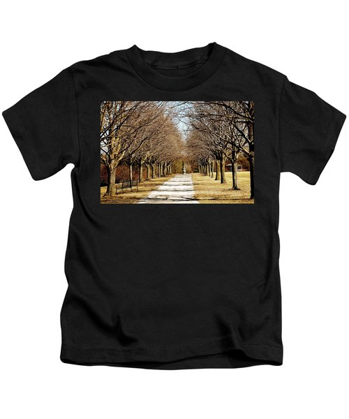 Pathway Through Trees Kids T-Shirt