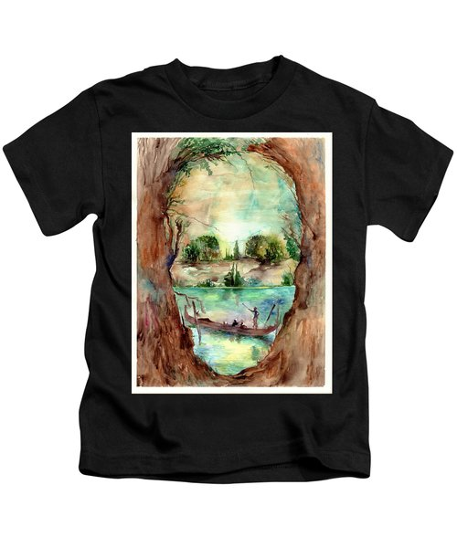Paysage With A Boat Kids T-Shirt