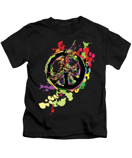 Peace And Peace Kids T-Shirt by Cindy Shim