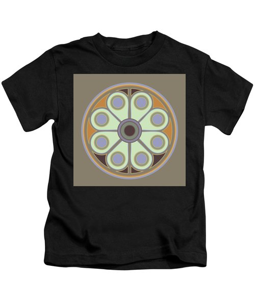 Peace Flower Circle Kids T-Shirt