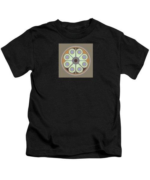 Peace Flower Circle Kids T-Shirt