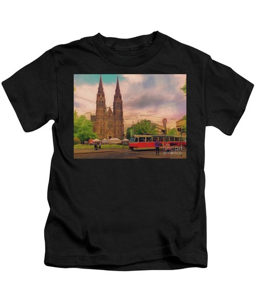 Peace Square Prague Kids T-Shirt