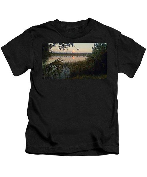 Peaceful Palmettos Kids T-Shirt