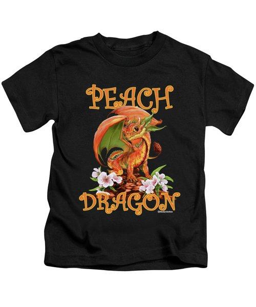 Peach Dragon Kids T-Shirt