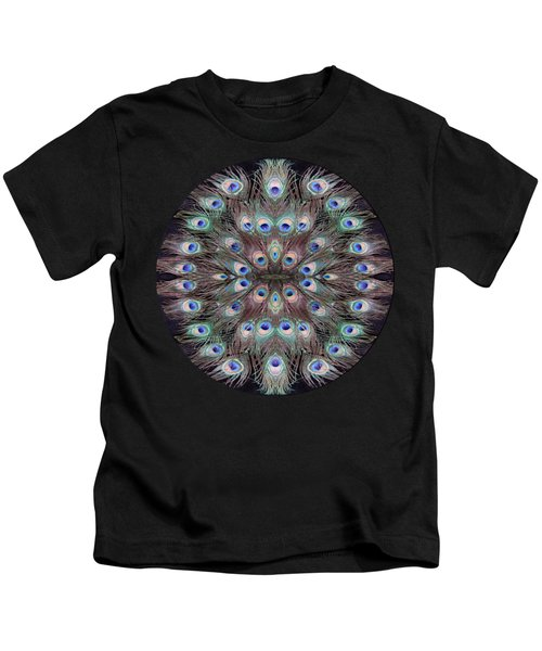 Peacock Eye Kaleidoscope Kids T-Shirt