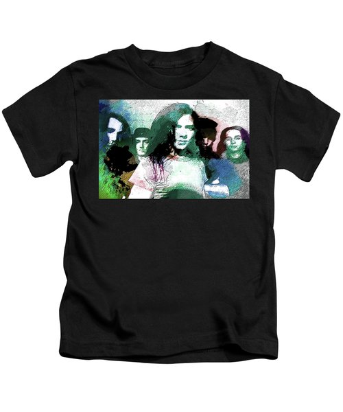 Pearl Jam Portrait  Kids T-Shirt by Enki Art