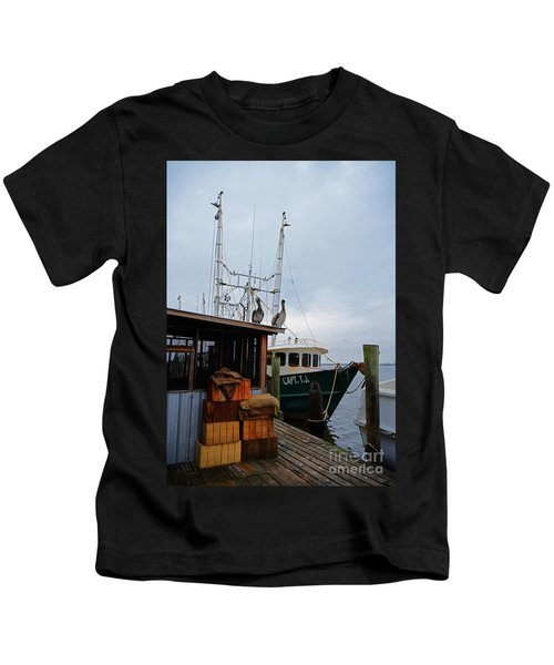 Pelicans Looking For Lunch Kids T-Shirt