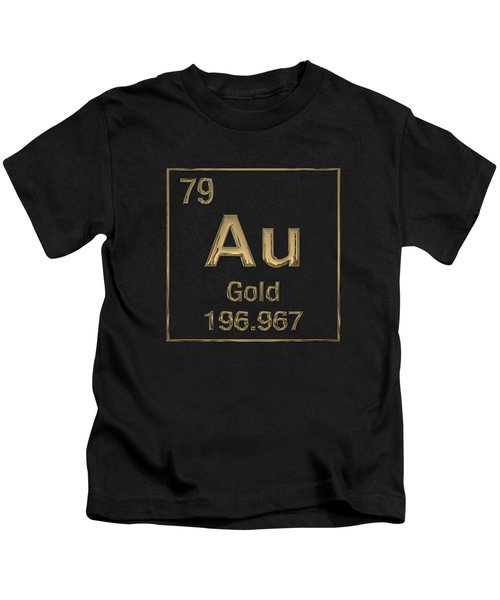 Periodic Table Of Elements - Gold - Au Kids T-Shirt