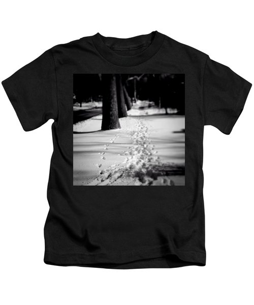 Pet Prints In The Snow Kids T-Shirt