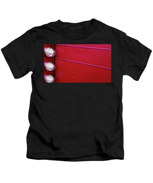 Peterbuilt Hood And Lamps Kids T-Shirt