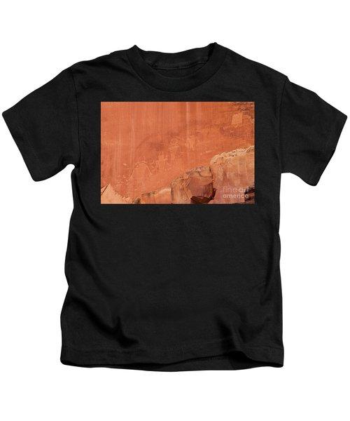 Petroglyphs In Capital Reef Kids T-Shirt