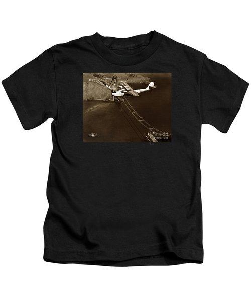 Philippine Clipper A Pan Am Clipper Over The Golden Gate Bridge  1935 Kids T-Shirt