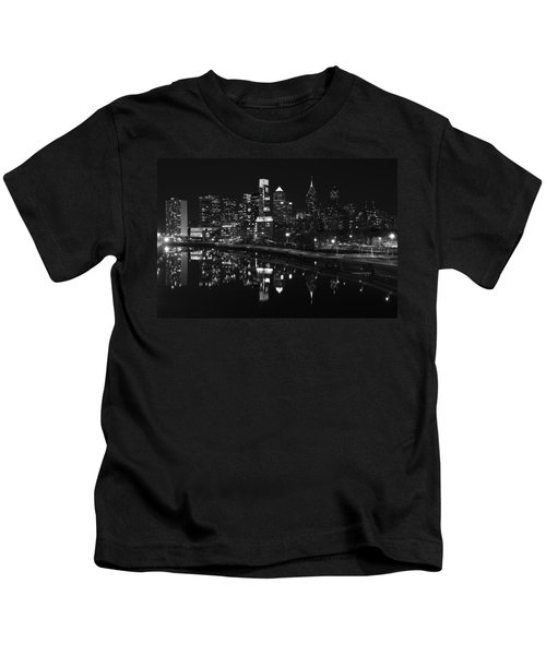 Philly And The Schuylkill Bw Kids T-Shirt