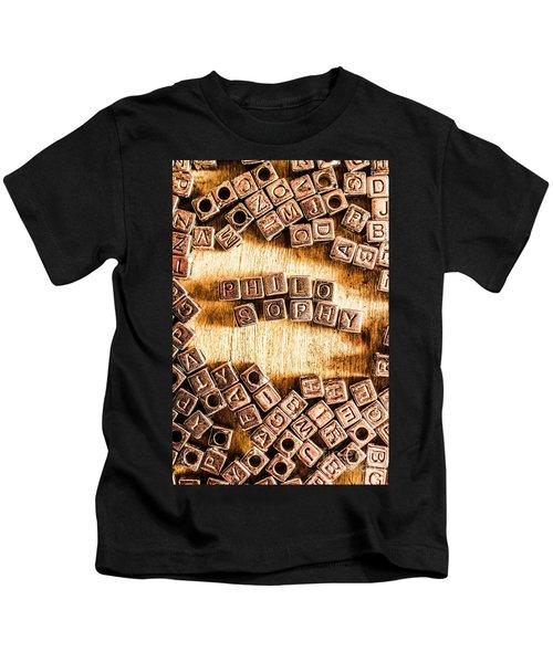 Philosophy Word Art Kids T-Shirt