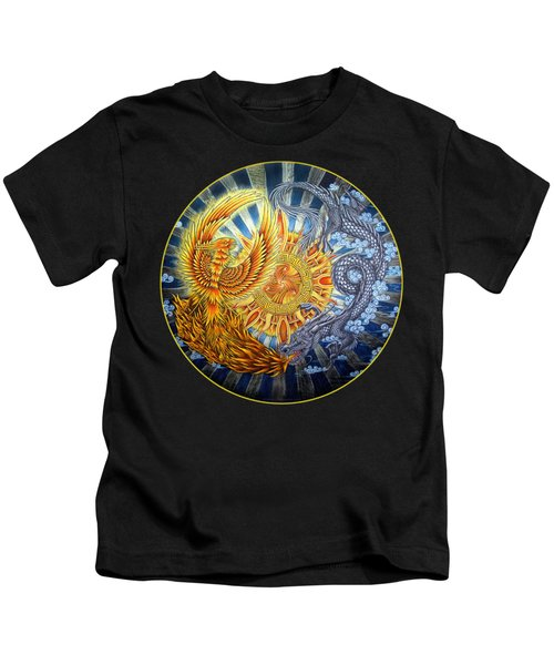 Phoenix And Dragon Kids T-Shirt
