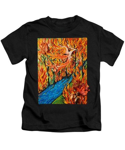 Phoenix Forest Fire Kids T-Shirt