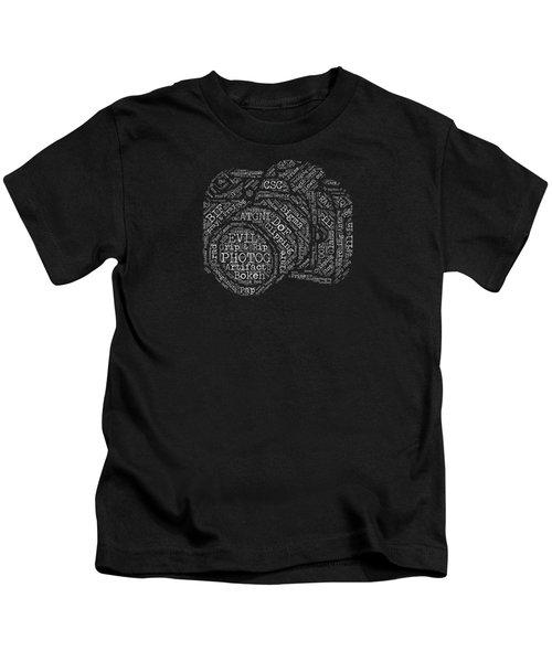 Photography Slang Word Cloud Kids T-Shirt