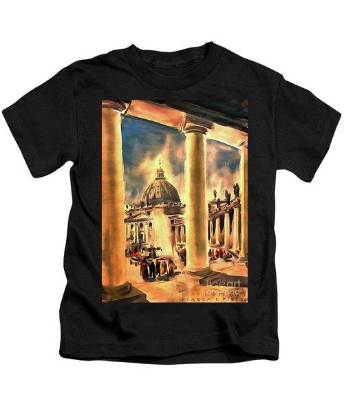 Piazza San Pietro In Roma Italy Kids T-Shirt