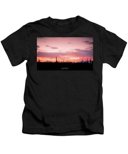 Picacho Sunset Kids T-Shirt