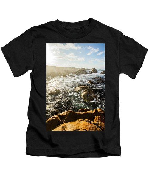 Picturesque Australian Beach Landscape Kids T-Shirt