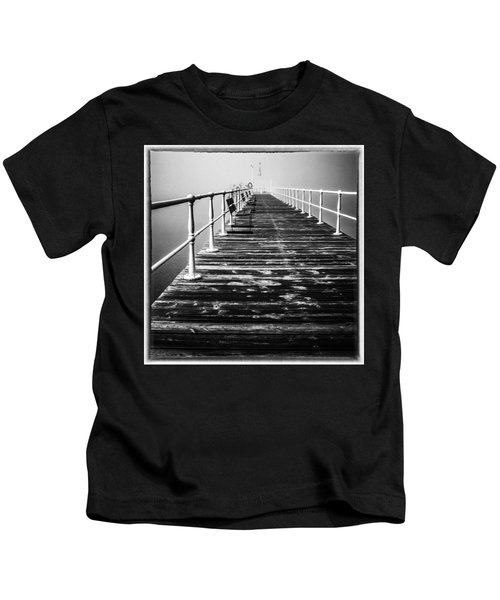 Pier At Pooley Bridge On Ullswater In The Lake District Kids T-Shirt