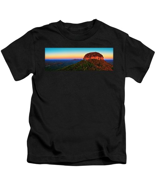 Pilot Mountain  Kids T-Shirt