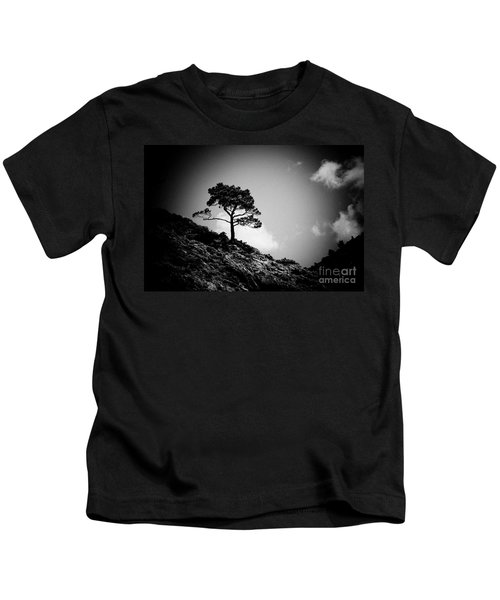 Pine At Sky Background Artmif.lv Kids T-Shirt