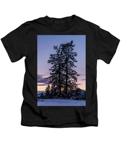 Pine Tree Silhouette    Kids T-Shirt