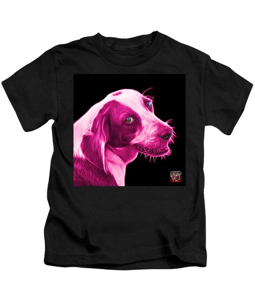 Pink Beagle Dog Art- 6896 - Bb Kids T-Shirt