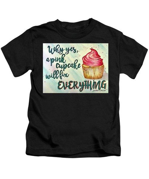 Pink Cupcake Kids T-Shirt