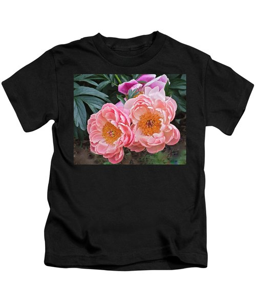 Pink Duo Peony Kids T-Shirt