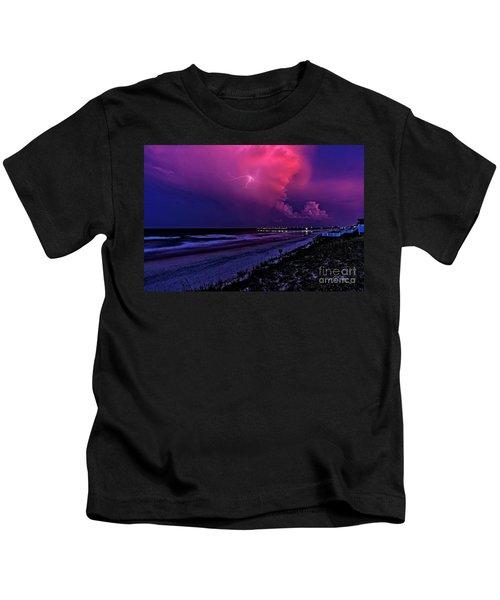 Pink Lightning Kids T-Shirt
