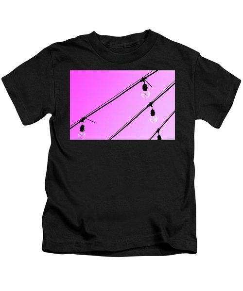 Pink Pop Art Light Bulbs - Sharon Cummings Kids T-Shirt