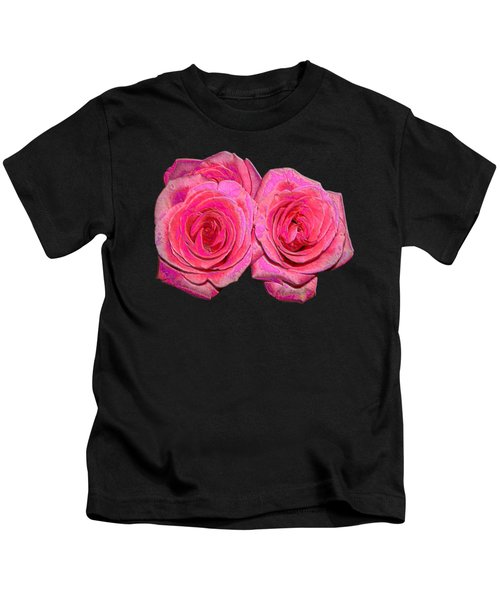 Pink Roses With Enameled Effects Kids T-Shirt