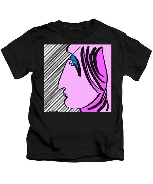 Pink Scarf Kids T-Shirt