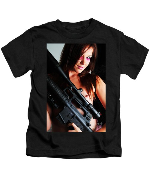 Pink Sniper Kids T-Shirt