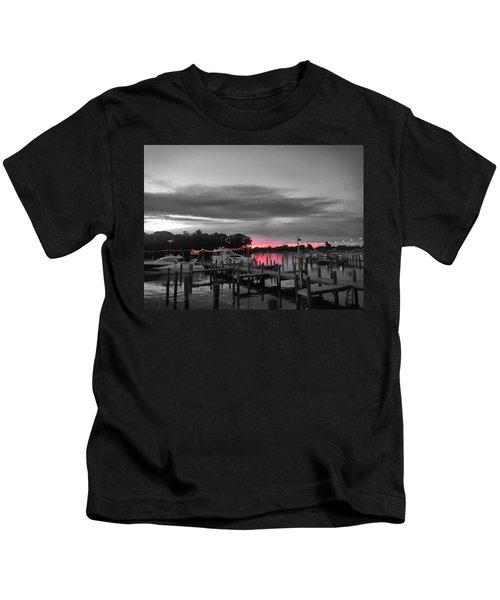 Pink Sunset Kids T-Shirt