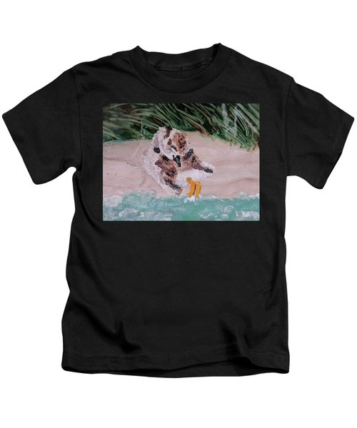 Piping Plover Chick 2 Kids T-Shirt