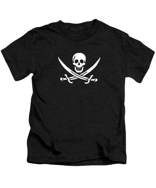 Pirate Flag Jolly Roger Of Calico Jack Rackham Tee Kids T-Shirt