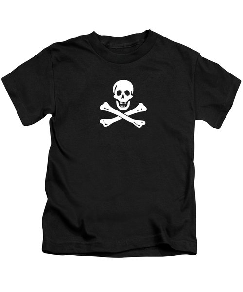 Kids T-Shirt featuring the digital art Pirate Flag Tee by Edward Fielding