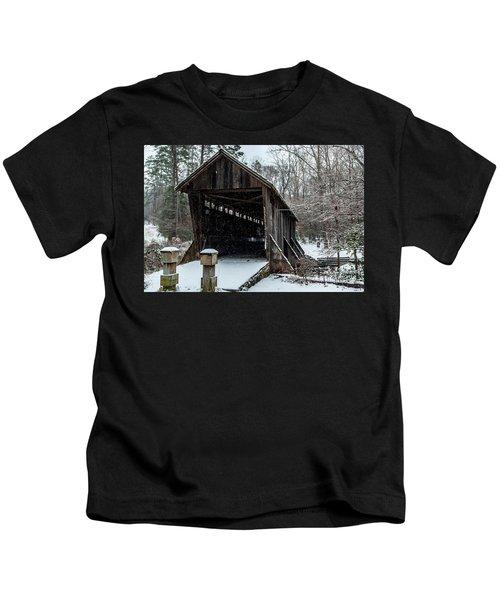 Pisgah Covered Bridge - Modern Kids T-Shirt